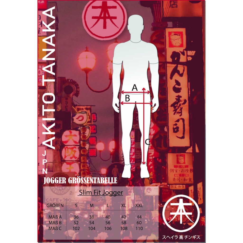 Akito Tanaka Jogginghose »Jogger Side«, mit Stickerei