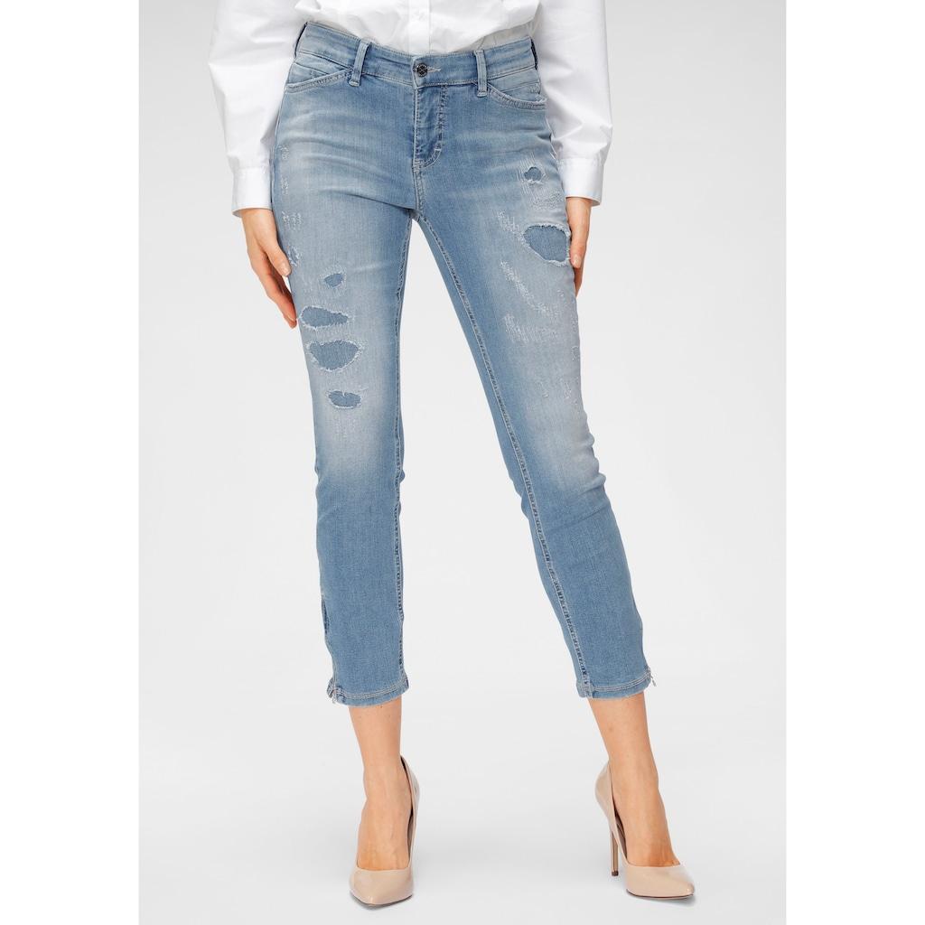 MAC 7/8-Jeans »Dream Chic Destroyed«, Unterlegte Destroyed-Effekte