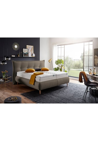 f.a.n. Schlafkomfort Polsterbett »München«, inkl. Matratze mit integriertem Topper, in verschiedenen Größen und Härtegraden kaufen