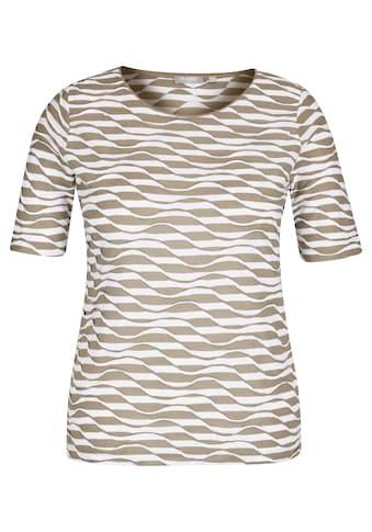 Rabe T-Shirt, mit RIngel-Muster und Wellenstruktur kaufen
