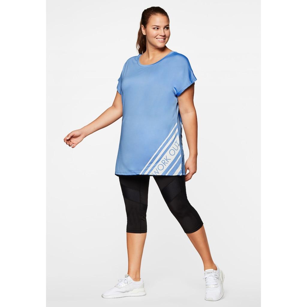 Sheego T-Shirt, mit atmungsaktiver, schnelltrocknender Funktion