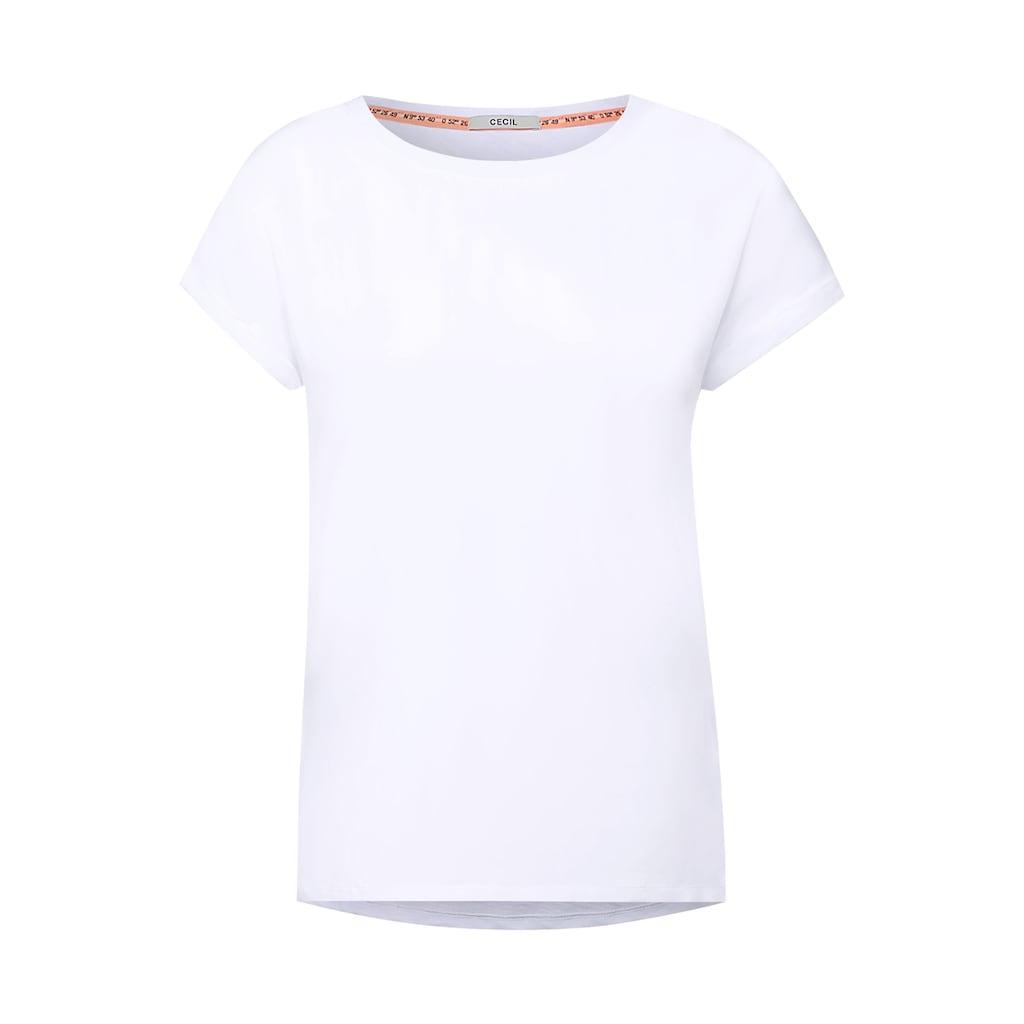 Cecil Rundhalsshirt, im Basic-Style