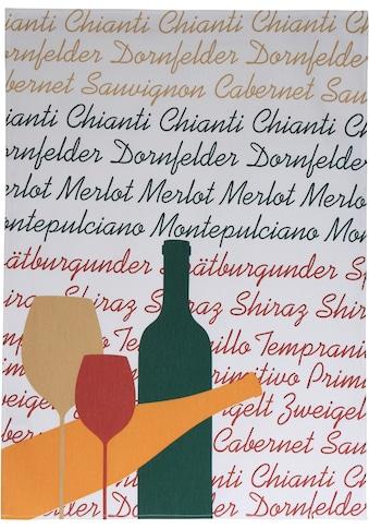 """stuco Geschirrtuch """"Vino"""" (Set, 3 - tlg.) kaufen"""
