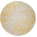 Paco Home Teppich »Artigo 415«, rund, 4 mm Höhe, Ornamente, Vintage Design, In- und Outdoor geeignet, Wohnzimmer