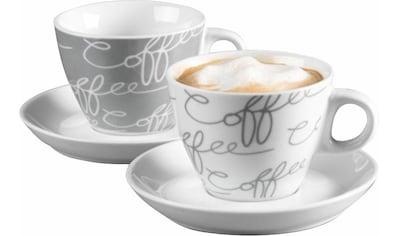 Ritzenhoff & Breker Cappuccinotasse »Cornello Grey«, (Set, 4 tlg.), 2 Tassen, 2... kaufen