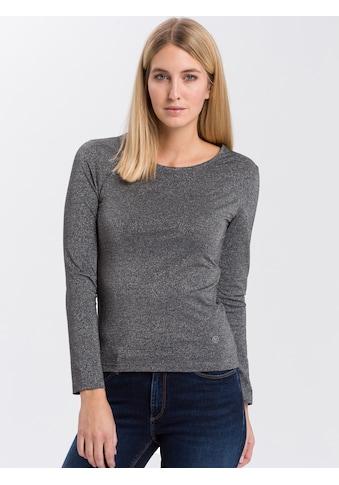 Cross Jeans® Langarmshirt »55597«, Mit glänzendem Metallgarn kaufen