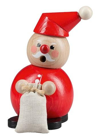 SAICO Original Weihnachtsfigur, Räucherfigur Weihnachtsmann mit Sack kaufen