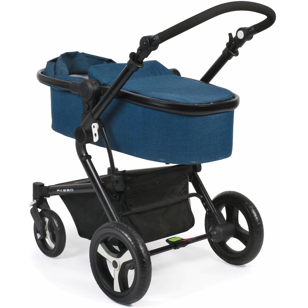 CHIC4BABY Kombi-Kinderwagen »Passo, navy«, 15 kg