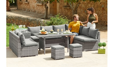 KONIFERA Loungeset »Kalamos«, (23 tlg.), 3er-Sofa, 2x 2er Sofa, Ecksofa, 2 Hocker, 2... kaufen