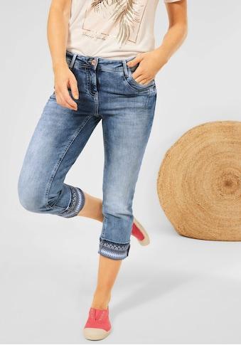 Cecil 3/4-Jeans »Scarlett«, mit Kontrastbesatz am Bein kaufen