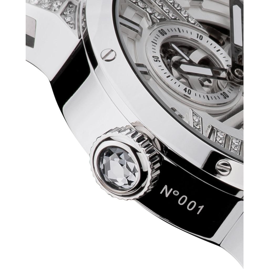 HAEMMER GERMANY Automatikuhr »WHITE FLASH, GL-200-W«