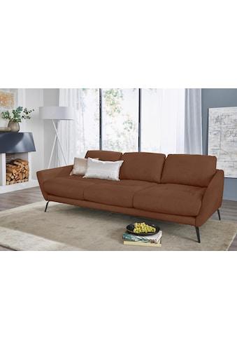 W.SCHILLIG Big-Sofa »softy«, mit dekorativer Heftung im Sitz, Füße schwarz... kaufen