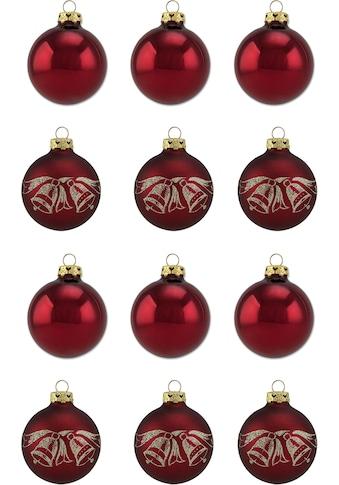 """Thüringer Glasdesign Weihnachtsbaumkugel """"Burgund"""" kaufen"""
