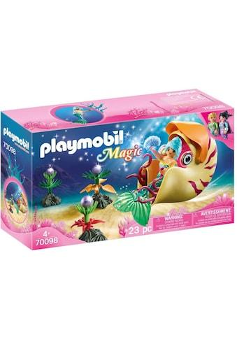 Playmobil® Konstruktions-Spielset »Meerjungfrau mit Schneckengondel (70098), Magic«, Made in Germany kaufen
