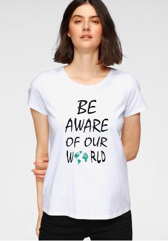 OTTO products T-Shirt, nachhaltig aus zertifizierter Bio-Baumwolle mit Statement-Druck kaufen