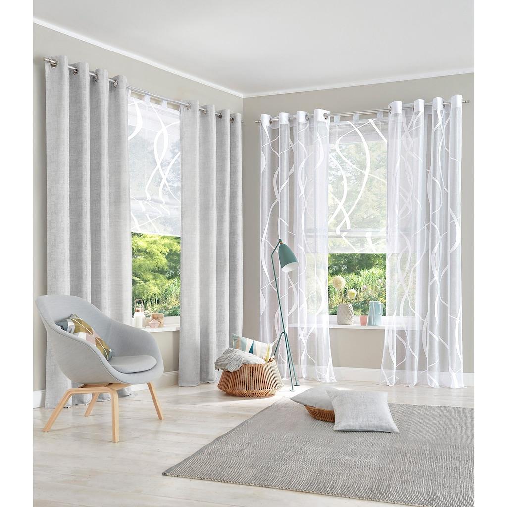my home Gardine »Cellino«, Vorhang, Fertiggardine, transparent