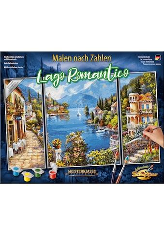 """Schipper Malen nach Zahlen """"Meisterklasse Triptychon  -  Lago Romantico"""" kaufen"""