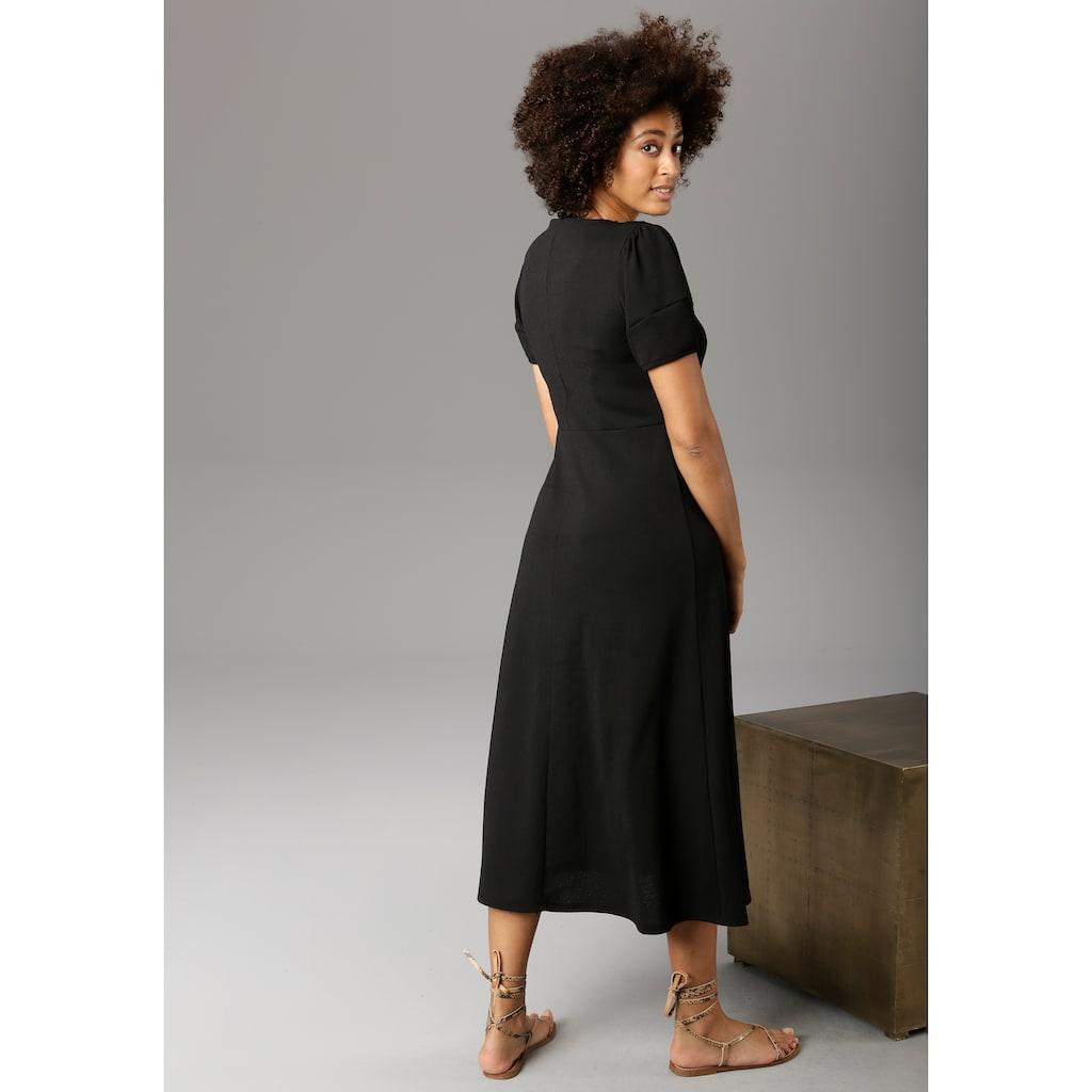 Aniston CASUAL Jerseykleid, in Crash-Optik