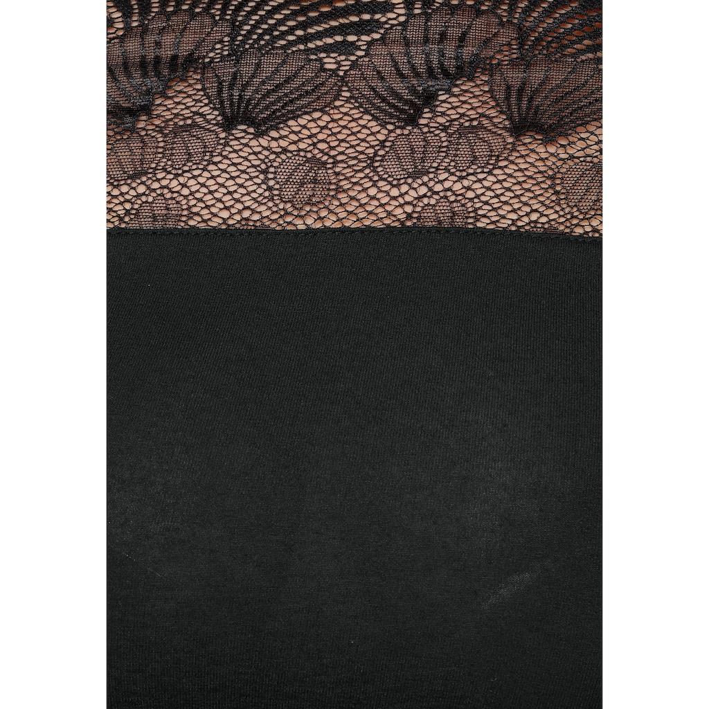Melrose Langarmshirt, mit Spitze in Muschel-Optik