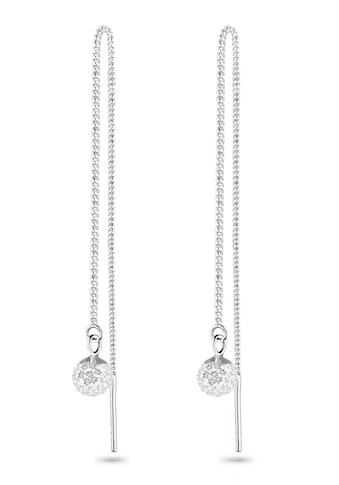 Elli Paar Ohrhänger »Hänger Durchzieher mit Kugel Kristalle« kaufen