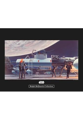 Komar Poster »Star Wars Classic RMQ Yavin Hangar«, Star Wars kaufen