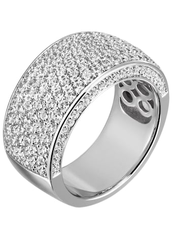 Firetti Silberring »in glamouröser Optik, rhodiniert«, mit Zirkonia kaufen