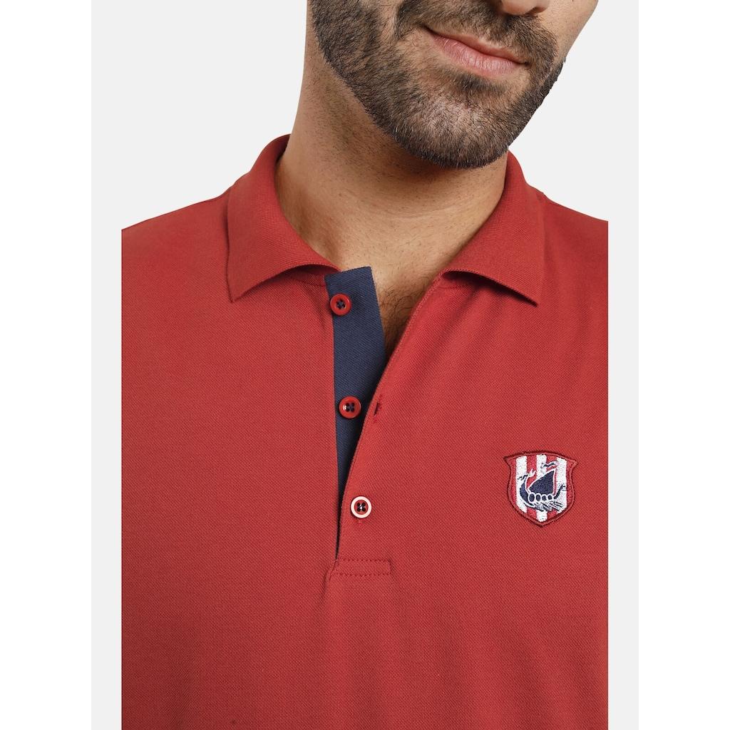 Jan Vanderstorm Poloshirt »NISSE«, mit verlängertem Rückenteil