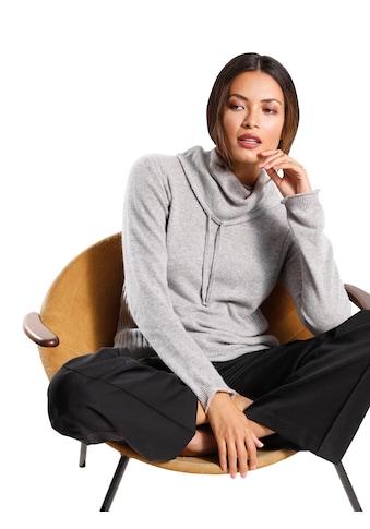 Creation L Kaschmir - Pullover mit halsfernem Rollkragen kaufen
