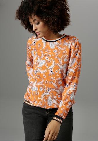 Aniston SELECTED Shirtbluse, mit sportiven Rippbündchen - NEUE KOLLEKTION kaufen