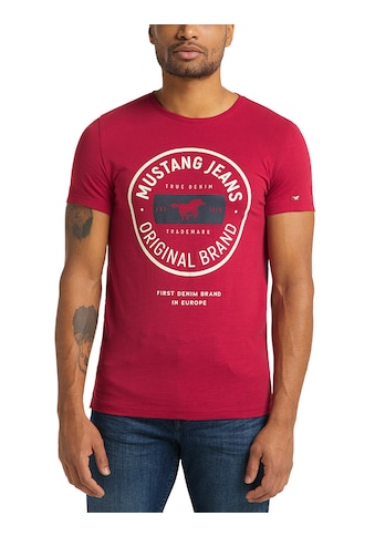 MUSTANG T-Shirt »Aaron C Print«, kurzarm kaufen