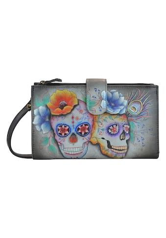 ANUSCHKA Brieftasche »Calaveras de Azucar aus handbemaltem Leder«, mit Handytasche und... kaufen