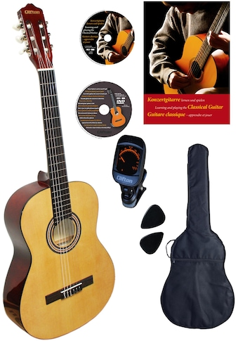"Clifton Konzertgitarre ""Konzertgitarren Set, Natur"" 4/4 kaufen"