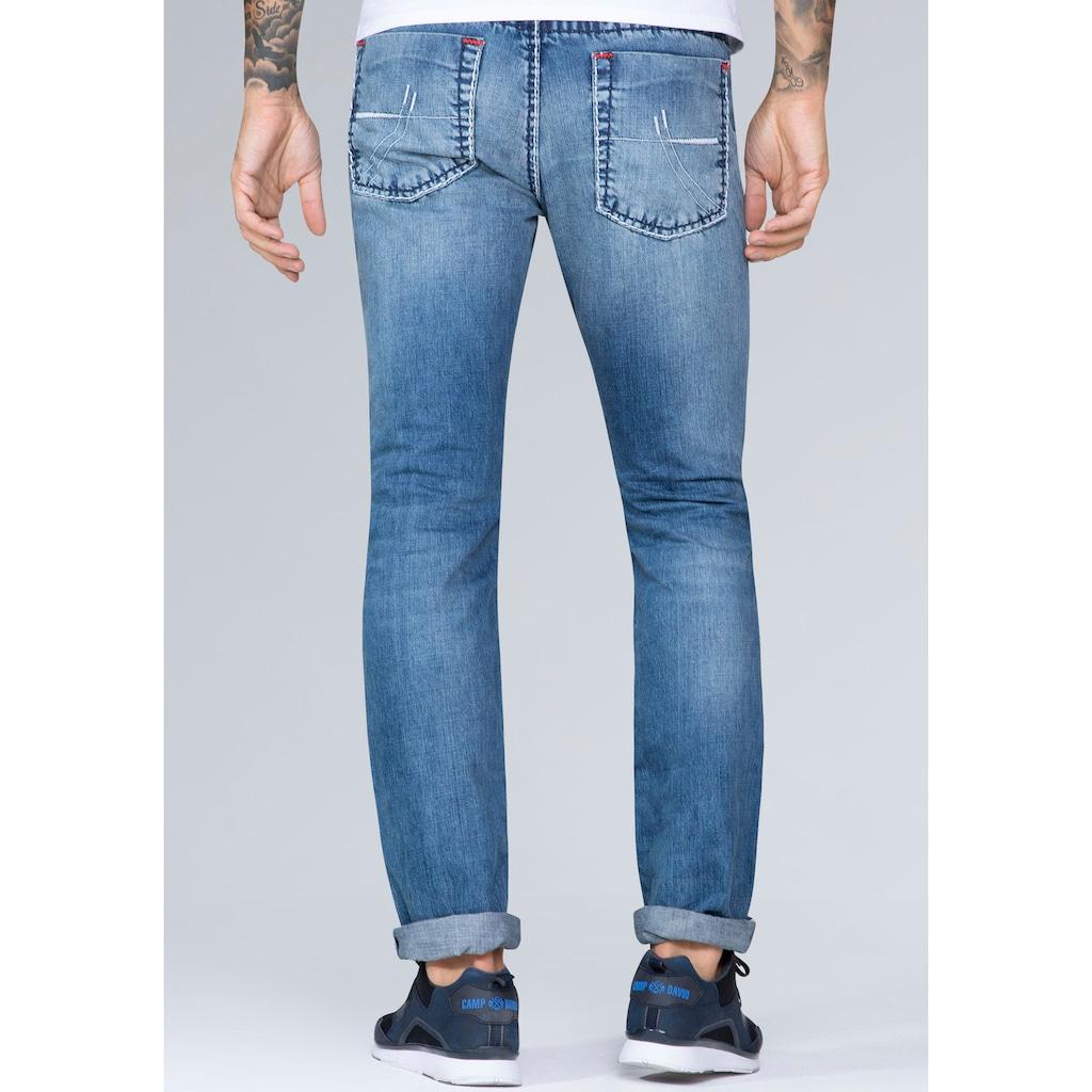 CAMP DAVID 5-Pocket-Jeans, mit authentischer Waschung