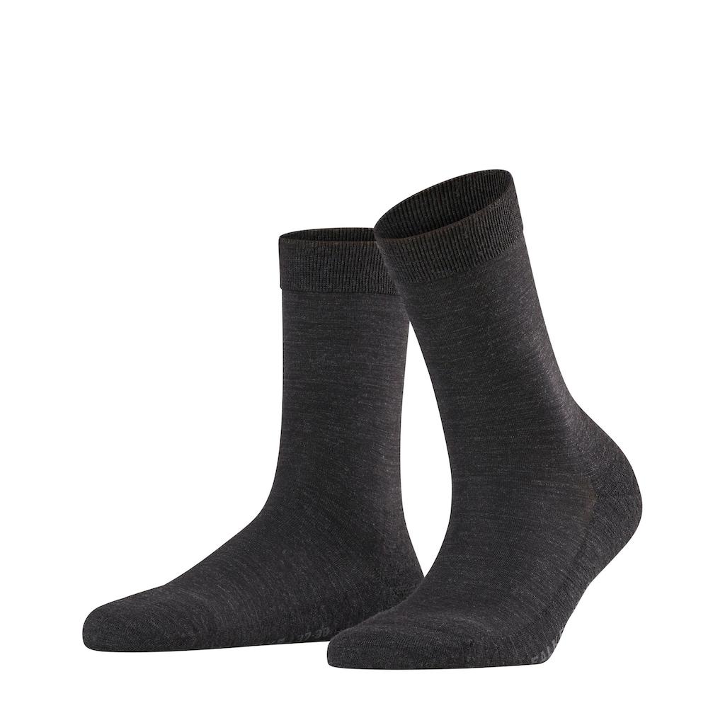 FALKE Socken »Wool Balance«, (1 Paar), mit Plüschsohle