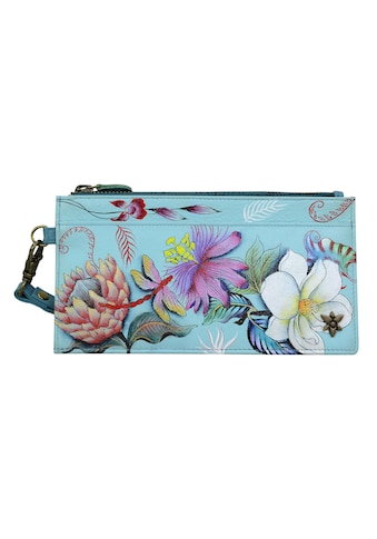 ANUSCHKA Brieftasche »Jardin Bleu aus handbemaltem Leder«, mit RFID-Blockierung kaufen