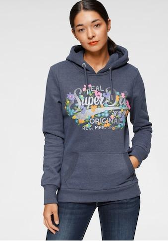 Superdry Kapuzensweatshirt »REAL ORIGINALS FLORAL HOOD«, im floralem Vintage Design in Premium Qualität kaufen