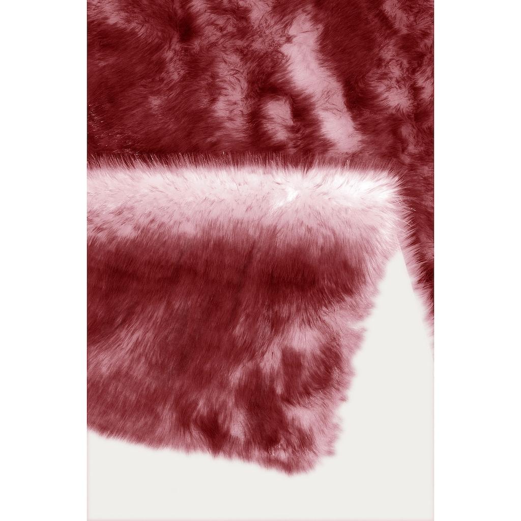 my home Fellteppich »Sammo«, rechteckig, 60 mm Höhe, Kunstfell, sehr weicher Flor, Wohnzimmer