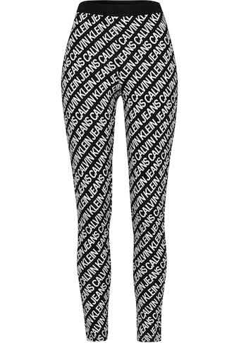 Calvin Klein Jeans Leggings »MILANO AOP LOGO ELASTIC LEGGING«, mit Allover-Logoprint... kaufen