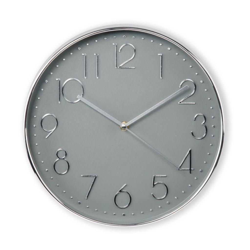 """Hama Wanduhr """"Elegance"""", Ø 30 cm, geräuscharm, Silber/Grau"""