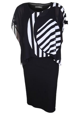 Doris Streich Jerseykleid »mit gemustertem Überwurf« kaufen