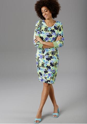Aniston SELECTED Jerseykleid, mit gestreiften Ärmelabschlüssen - NEUE KOLLEKTION kaufen