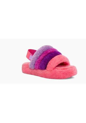 UGG Sandale »Fluff Yeah Slide«, mit buntem Fersenriemchen kaufen