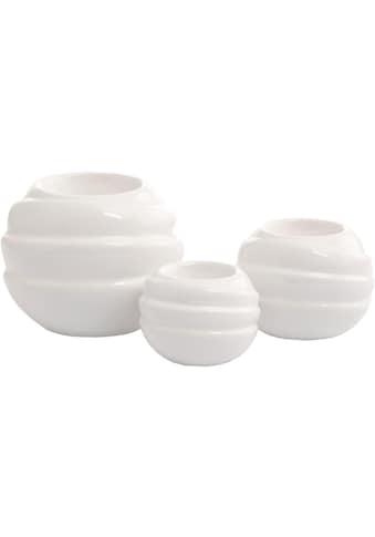 VALENTINO Wohnideen Kerzenhalter »Tajo«, glasiert kaufen