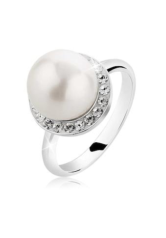 Nenalina Perlenring »Muschelkern-Perle Kristalle 925 Silber« kaufen