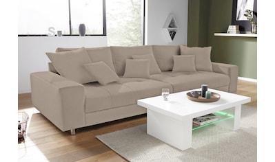Nova Via Big-Sofa, wahlweise mit Kaltschaum (140kg Belastung/Sitz) und RGB-LED-Beleuchtung kaufen