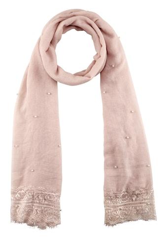 Schal mit Spitze und Perlen kaufen