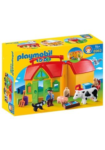 """Playmobil® Konstruktions - Spielset """"Mein Mitnehm - Bauernhof (6962), Playmobil1 - 2 - 3"""", Kunststoff kaufen"""