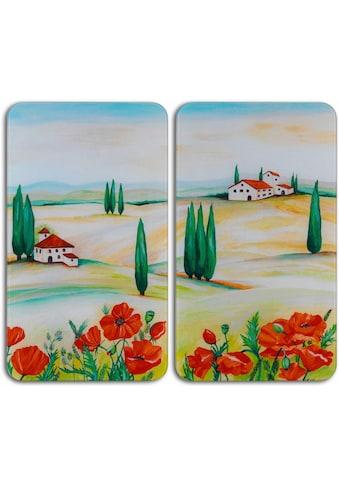 WENKO Herd-Abdeckplatte »Toscana«, (Set, 2 tlg.), aus gehärtetem Glas von WENKO kaufen