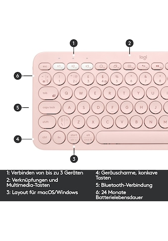 Logitech Wireless-Tastatur »K380 Multi-Device« kaufen