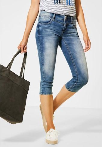 STREET ONE Comfort-fit-Jeans, mit verkürzten Beinen kaufen